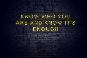 I Am Not Good Enough – Part I